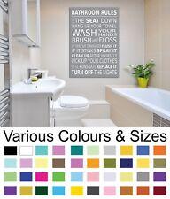 Bathroom Wall Picture Bathroom Rules Wall Art Canvas Prints A1/A2/A3/A4