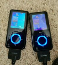 TWO Used SanDisk Sansa e280 8GB MP3 Players
