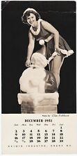 Salesman Sample Haloid Industro Photo by Glen Fishback Pinup Girl Christmas 1951