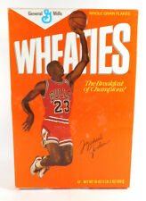 1989 General Mills Wheaties MICHAEL JORDAN 18 oz. Empty Cereal Box ~ Jump Shot