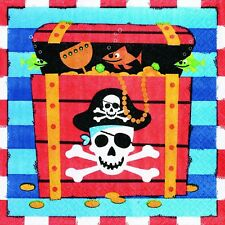 Pirate Party Supplies - Treasure Lunch Napkin/Serviettes 2 Ply 16 Pack