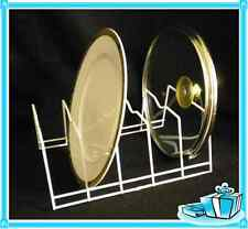 Dish Plate Pot Storage Container Cover Organizer Coated Wire Holder Rack Wh