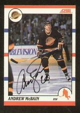 Andrew McBain signed autograph auto 1990 Score Hockey Card French Version