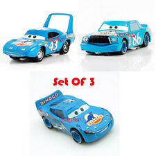 3 pcs Set Disney Pixar Dinoco The King+Mcqueen+Chick Hicks Cars 1:55 Kids Toy