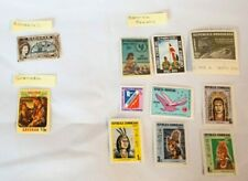Lot of 17 Stamps from Caribbean Central America Nicaragua Dominican Rep. Mexico