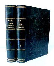 MANUEL et FORMULAIRE DU NOTARIAT- Edouard CLERC - 2 T- Ed Cosse et Marchal 1858