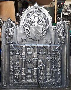 originale Ofen Kamin Platte Renaissance datiert 1686, Breite: 64 cm Höhe: 82 cm