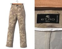Women's ETRO Pants Trousers Floral Patterned Printed Beige Size 38