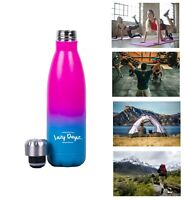 500ml Double Walled Insulated Stainless Steel Water Drink Bottle Sport Yoga Gym