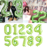 "40"" Green Number Large Foil Helium Balloon Wedding Birthday Party Decoration"