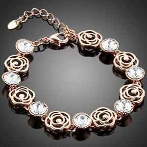 Valentines Gift For Her Love Birthday LIGHTWEIGHT CRYSTAL FLOWER DESIGN BRACELET