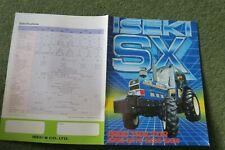 Iseki Tractor Sales leaflet brochure SX range 95, 75, 65, 55