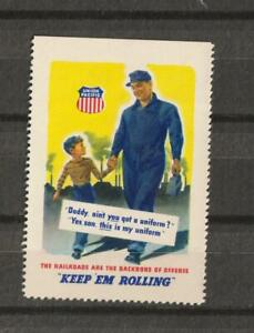 Vintage Poster Stamp Railroads, Railroadiana , Union Pacific VF ,NG MNH