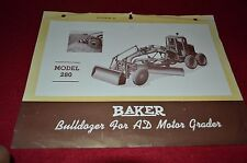 Baker Bulldozer For Allis Chalmers AD Motor Grader Dealers Brochure DCPA8