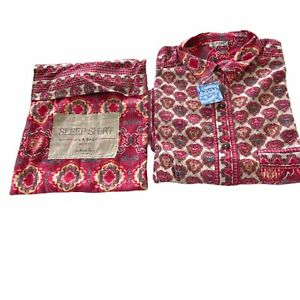 Free People Sleep Shirt in a Bag Red Combo Size XS New With Tags