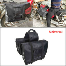 Double-strapped Flap Rear Tail Storage Saddlebag Universal Bag For Motorcycle