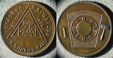 Token : Masonic St. Johns Ch. RAM E. Boston Mass. IRTM713