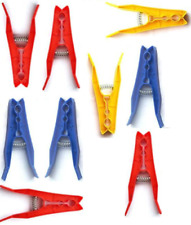 Strong Clothes Pegs 32x Strong Large Coloured Clips Grip Laundry Washing Line UK