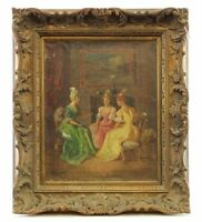 Rare Antique oil on canvas end of 18th century,beginning of 19th