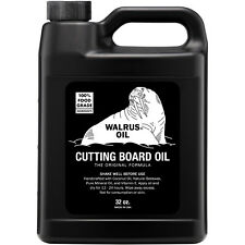 WALRUS OIL - Cutting Board Oil 32oz, Food-Safe Finish for Wooden Butcher Blocks