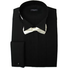 """WHITE WING COLLAR SHIRT /& BLACK BOW TIE NEW FACTORY SECOND SIZE 16 /"""" 17 /"""" 19 /"""""""