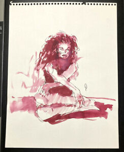 George PRATT ~ Water Color Painting of a Female Model...1990's