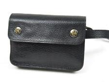 Authentic HERMES Pochette Green Waist Bag Black Vintage Very good r1630