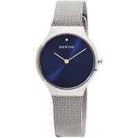 Bering Classic Quartz Movement Blue Dial Ladies Watch 12131-007