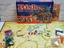 Risk Board Game Parker 2004 Gold Cavalry Figure Edition, Mission Cards Complete