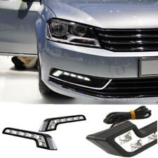 2X 6LED Car DRL Bright Driving Daytime Running Fog Day Light Head Front Lamp X