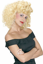 Adult Sexy Blonde Grease Sandy Cool Girl Costume Wig