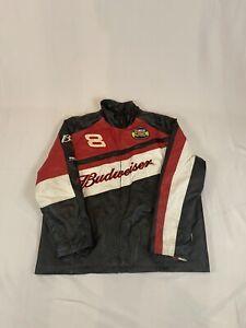 Wilson Leather Jacket Mens NASCAR #8 Dale Earnhardt Jr Budweiser  XL