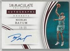 2014 Panini Immaculate Collection Dual Memorabilia//99 #DM-NB Nicolas Batum Card