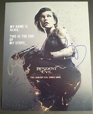 RESIDENT EVIL FINAL CHAPTER x4 Authentic Hand-Signed MILLA JOVOVICH 11x14 photo