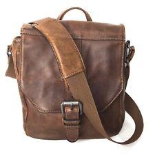 Wilsons Leather Thunder Leather Tablet Bag Cognac Brown Adjustable Strap Rugged