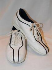 Rare! Vtg 80s NIKE BOWLING SHOES navy & white leather WOMENS SZ 7 STRIKE!