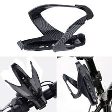 Carbon Fiber Bicycle Cycling Glass Water Bottle Holder Rack Cage Road MTB Bike