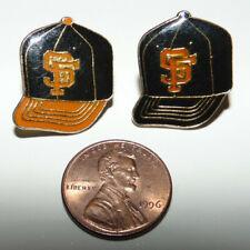 2) San Francisco Giants Baseball Cap Vintage Enamel 70s 80s Pin Badge HOME/AWAY