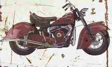 Indian Chief 1951 Aged Vintage SIGN A4 Retro