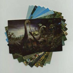 (9) Vintage Disneyland Anaheim CA Souvenir Postcards Primeval World etc yz8105
