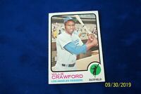 1973 TOPPS DODGERS WILLIE CRAWFORD # 639
