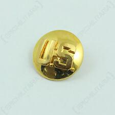 Single US Collar Disc - Gold American Badge Army Circle Uniform Insignia Domed