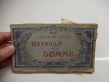 WWI Campagne 1914-1918 Bataille de la Somme bombing Postcard book