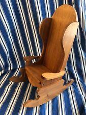Walnut Solid Wood Doll Or Bear Rocking Chair