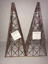 Threshold Set of 2 Copper Tone Metal Tree Tabletop Decor Pieces New Tags Xmas