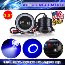 2pcs 3.5'' High Power Blue Cob Angel Eye Halo Rings Projector Led Fog Light Lamp(Fits: Neon)