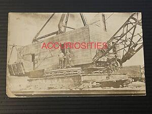 RPPC Bucyrus Dragline Crane Excavator Photo Philadelphia Pa Construction Vintage