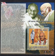 Sao Tome 2007 Great leader from India - Mahatma Gandhi imperf. stamps MNH** B310