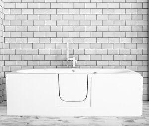 Cirrus Midi walk in bath, 1695mm, INC END PANEL & DELIVERY!