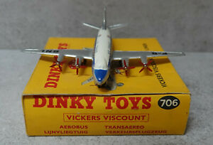 Dinky 706 Vickers Viscount Air Liner Air france Near Mint Boxed in Original Box